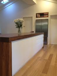 kitchen island bench top 90mm blackwood timber end panels 90mm
