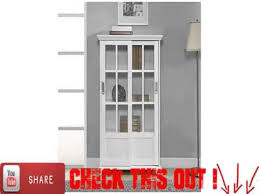 Bookcases With Sliding Glass Doors Altra 9448096 Bookcase With Sliding Glass Doors White Youtube