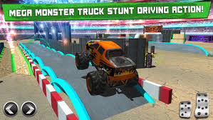 monster truck parking simulator car driving test run sim