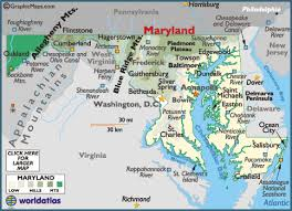 map of maryland with cities maryland map geography of maryland map of maryland worldatlas