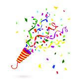 new years party blowers party blowers clip royalty free gograph