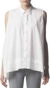 sleeveless collared blouse acne studios sleeveless collared button blouse white where