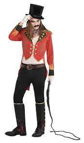 Ringmaster Halloween Costume Mens Freak Show Ringmaster Jacket Fancy Dress Accessory Amazon