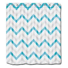 custom shower font curtains trendy teal blue grey and white