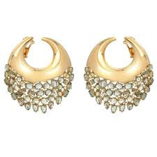 gold earrings etho prasiolite diamond gold earrings for sale at 1stdibs