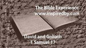 david and goliath from the bible experience tniv youtube