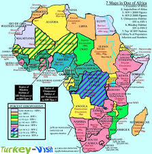 map of africa with country names map of africa