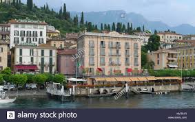 waterfront of bellagio on lake como italy stock photo royalty