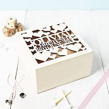 personalised keepsake box personalised heart christening keepsake box by