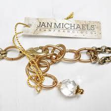Gold Monogram Bracelet Jan Michaels Crystal Monogram Necklace Talich