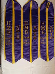 honor stoles graduation stoles heavyweight purple satin honor gold satin trim