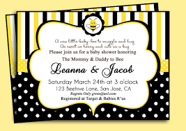 bee themed baby shower invitations theruntime com