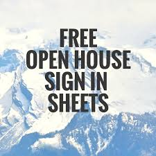 open house sign in sheet mortgage loan and real estate info