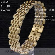 links style bracelet images 14k gold finish bracelet stainless steel mens watch strap style jpg