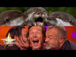 Cumberbatch Otter Meme - benedict cumberbatch imitated an otter and then punched a teddy bear