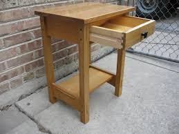 fabulous white oak nightstand fascinating tall bedside table