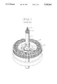 patent us5338992 coil structure of ceiling fan motor google