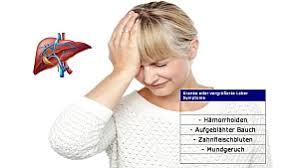 leberschwäche symptome vergrößerte und kranke leber symptome