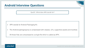 apk stands for android questions and answers android tutorial android