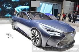 lexus lf fc lexus lf fc front three quarter concept at the 2016 geneva motor