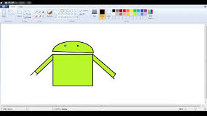 paint for android android paint lesson in windows paint draw an android robot