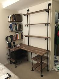 Office Shelf Decorating Ideas Best 25 Desk With Shelves Ideas On Pinterest White Desks Home