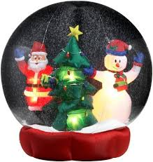 christmas inflatables outdoor christmas snow globes christmas snow globes
