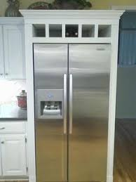 cabinet enclosure for refrigerator if so can you share some pictures i wonder if a fridge cabinet is