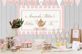 kitchen tea theme ideas pink personalized tea bag favours tea supplies