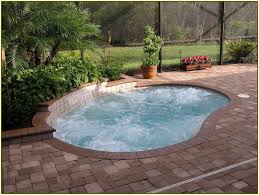 outdoor cozy small inground pools for modern backyard design with