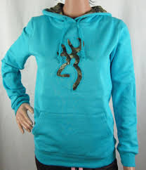 womens nwt browning buckmark camo rifle blue hoodie sweatshirt any