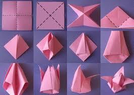 cara membuat bunga dari lipatan kertas 8 ide menghias kamar pakai kertas origami tinggal potong dan bentuk