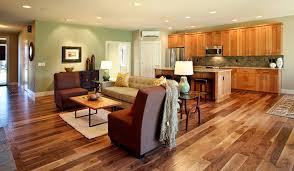 Flooring For Open Floor Plans Wonderful Acacia Wood Flooring With Open Floor Plan Ceiling Lighting