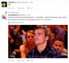 Song Chances Are From The Blind Side Antoine Griezmann Says Man Utd Move Chance Is 6 Out Of 10 Daily