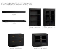 Black File Cabinets Build Your Own Reynolds Modular Cabinets Pottery Barn