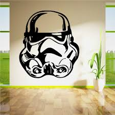 star wars wall decal picture more detailed picture about star star wars wall decals strom trooper face vinyl wall sticker home kids room art decoration wall
