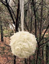 diy wedding decorations one 6 shabby chic flower girl pomander wedding
