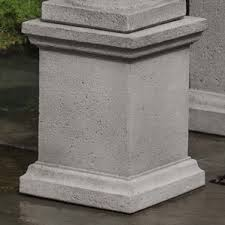 Decorative Concrete Pillars Garden Pedestals You U0027ll Love Wayfair