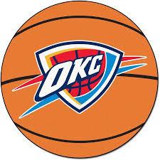 Okc Thunder Home Decor Nba Oklahoma City Thunder Nylon Face Basketball Rug Walmart Com