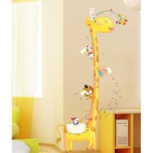 stickers girafe chambre bébé mignon girafe et amis des animaux stickers toises décoration