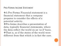 sample pro forma income statement proforma income statement