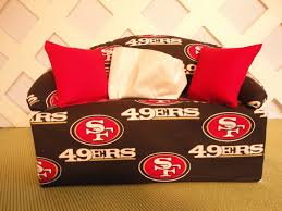 san francisco 49ers tissue box cover in sofa shape red and