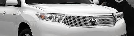2013 toyota highlander limited accessories 2013 toyota highlander custom grilles billet mesh led chrome