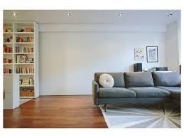 Floor To Ceiling Bookcases Brushed Metal Task Lamp Hardwood Floors Flooring Built In Floating