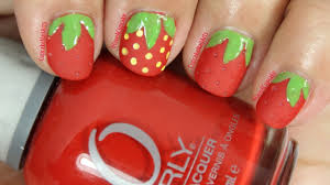 simple strawberry nail art youtube