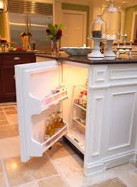 kitchen island with refrigerator kitchen island features