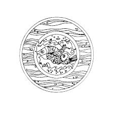 coloriage mandala cp a imprimer gratuit