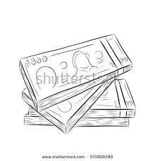 money vector on white backgroundmoney sketch stock vector