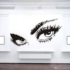 stickers mural on decoration d interieur moderne eyes pvc