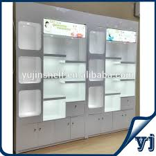 shop display wooden furniture showcase design wall glass display